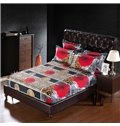 Flourishing Red Rose Print 6-Piece Duvet Cover Sets