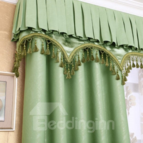 Lively Green High Shading Degree Polyester Curtain and Sheer
