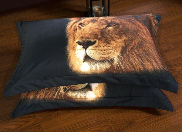 Powerful Lion Print 6-Piece Duvet Cover Sets