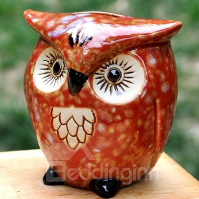 Creative Owl Piggy Bank Desktop Decoration