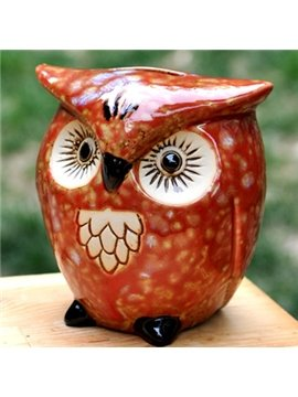 Creative Owl Piggy Bank Desktop Decoration