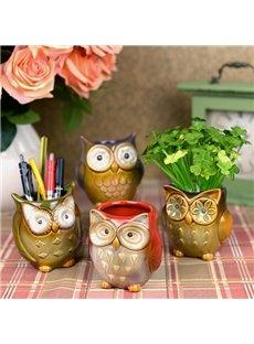 Super Cute Owl Desktop Decoration Organizer Pen Holder