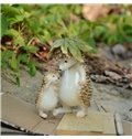 Loving Hedgehog Father and Son Desktop Decoration