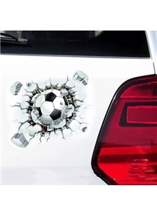 The Football Assault Breaking the Wall Vivid Car Sticker
