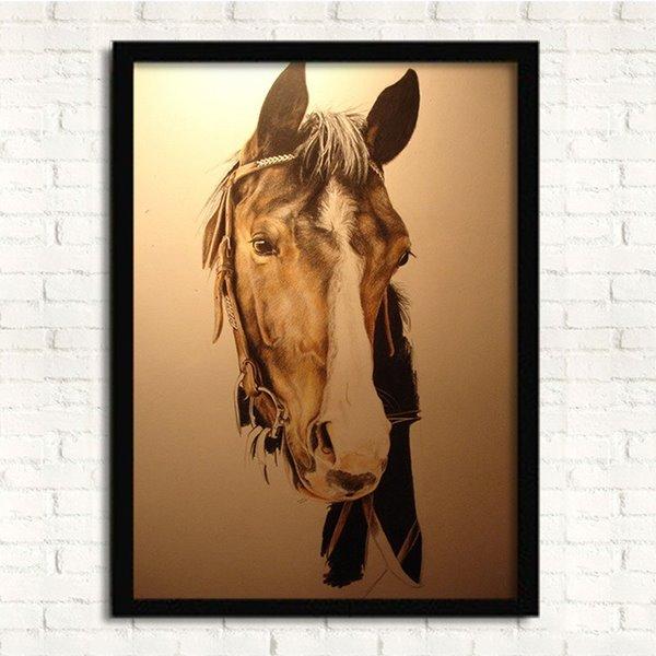 Vivid 3D Horse Head Framed 1-Panel Wall Prints