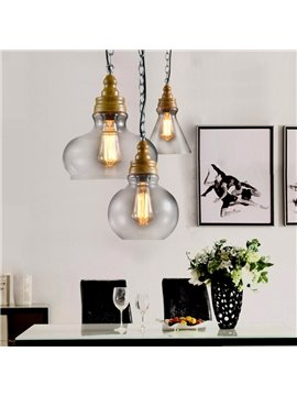 Retro Creative Multi-Shaped Combo 3-Head Pendant Lights