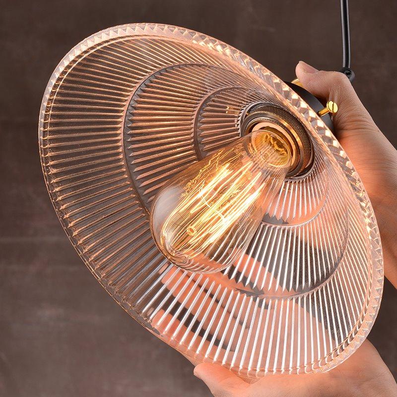 Simple American Style Crystal Glass 1-Head Pendant Lights
