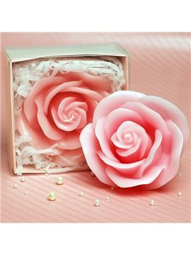 Romantic Decorative Pink Roses Fragrance Candle