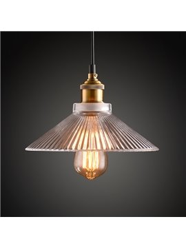 Vintage Industrial 1-Head Glass Shade Pendant Light