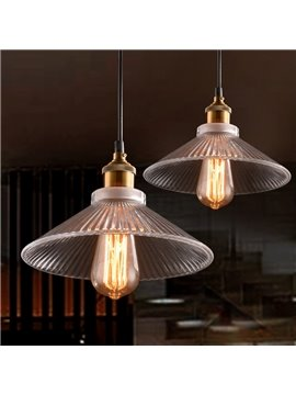 Vintage Industrial 2-Head Glass Shade Pendant Light