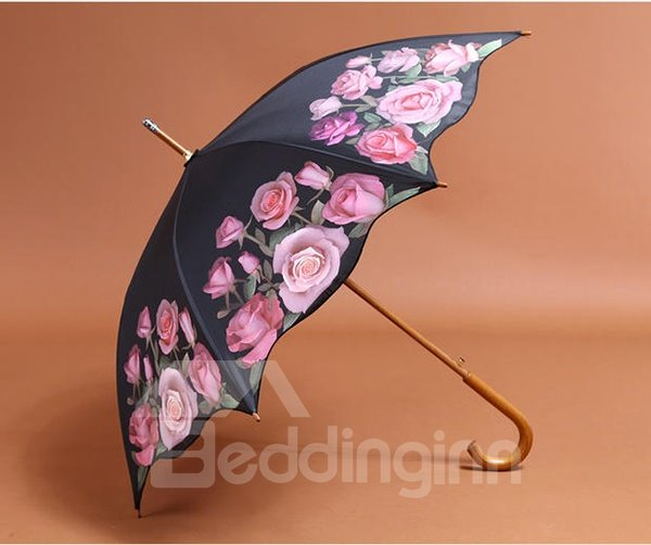 Wonderful Red Roses Sun and Rain Umbrella