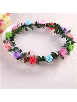 Refreshing Beautiful Colorful Flower Crown