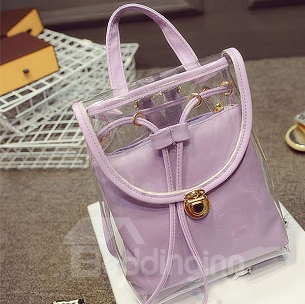 New Korean Style Transparent Backpack