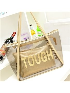 Durable Transparent Single-shoulder Bag