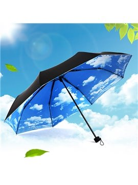 Creative Blue Sky Sun Umbrella