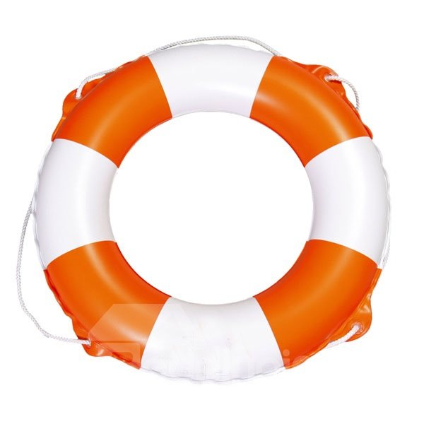 Lovely Orange and White Swim Ring with Safety Rope for Children