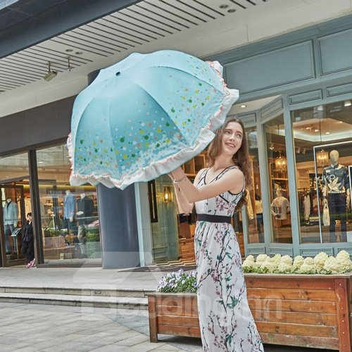 Fashion Princess Fringe Sun Umbrella