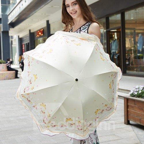 Fashion Princess Fringe Sun Umbrella