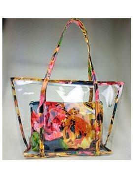Trendy Yellow Color Joint Transparent Shoulder Bag