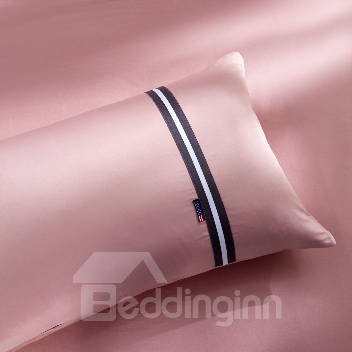 Bright Pure Color Twill Printing 3-Piece Cotton Duvet Cover Set