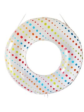 Lovely Little Dot Pattern Adult Swim Ring with Safety Rope