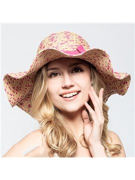 Lovely Broad Brim Women's Summer Beach Floppy Straw Hat