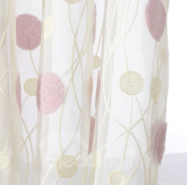 Lovely Bubble Double Pinch Pleat Sheer Curtain