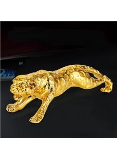 The Running Golden Leopard Gilding Creative Car Decor
