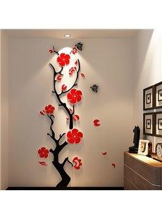 Stunning Plum Flower 3D Wall Stickers