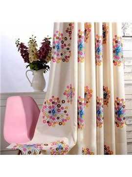 Top Class Colorful Dandelion Grommet Top Curtain