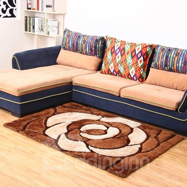 Top Quality Extra Thcikness Living Room Multi Color 3D Flowers Area Rugs Be