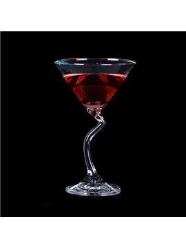 Creative Z-Stem Martini Glass Cocktail Glass 1-Piece