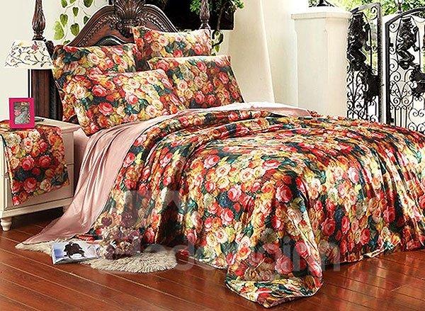 Charming Flower 4-Piece Duvet Cover Sets