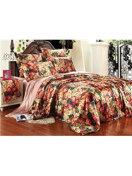 Charming Flower 4-Piece Duvet Cover Sets
