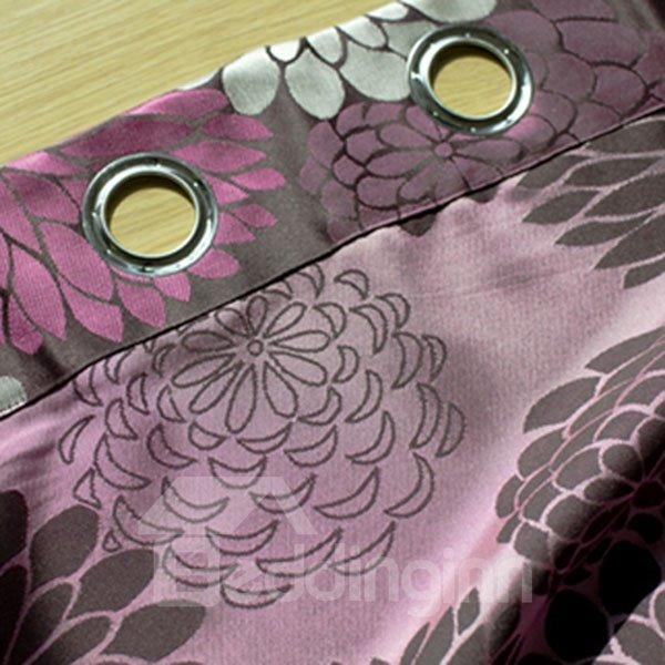 Simple Style Jacquard Grommet Top Curtain