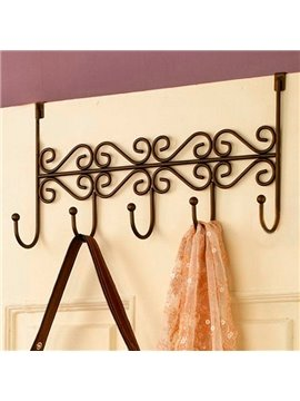 Creative Ironwork Over The Door 5 Hook Organizer Rack