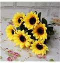 Gorgeous Bright Decorative Sunflower Artificial Flowers 1 Bunch