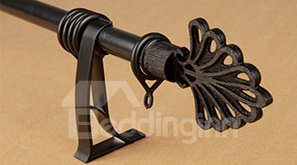Classic Anti-corrosion Noiseless Single Curtain Rod