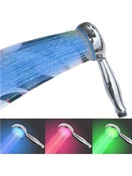 Amazing  Temperature Control LED Chrome Rainfall Shower Head