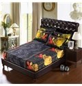 Graceful Red and Yellow Rose Print 6-Piece Duvet Cover Sets