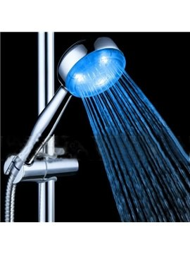 Bright Blue Color Chrome LED Shower Head