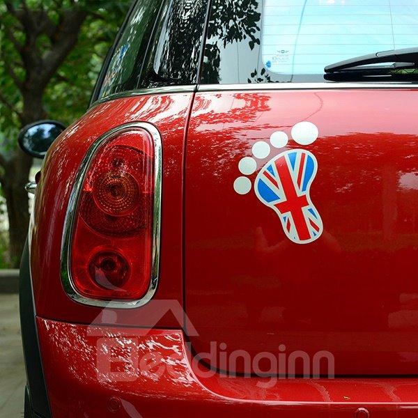 Super Cute Foot Print Style Car Sticker