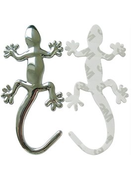Exquisite Metal Gecko Creative Design Car Sticker