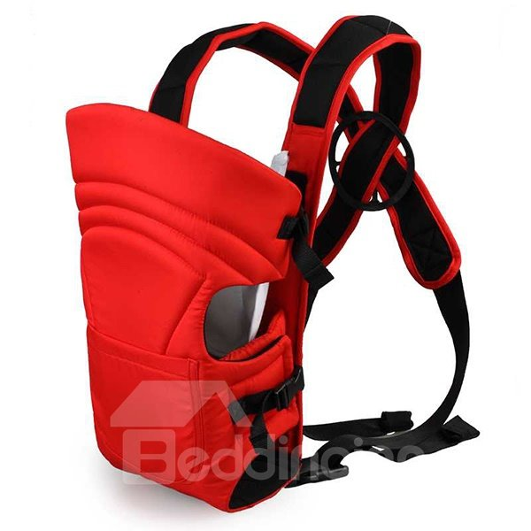 Functional Red Front Pocket Cross-Strap Baby Carrier