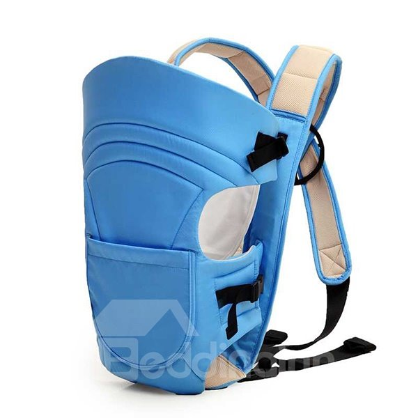 Functional Blue Front Pocket Cross-Strap Baby Carrier