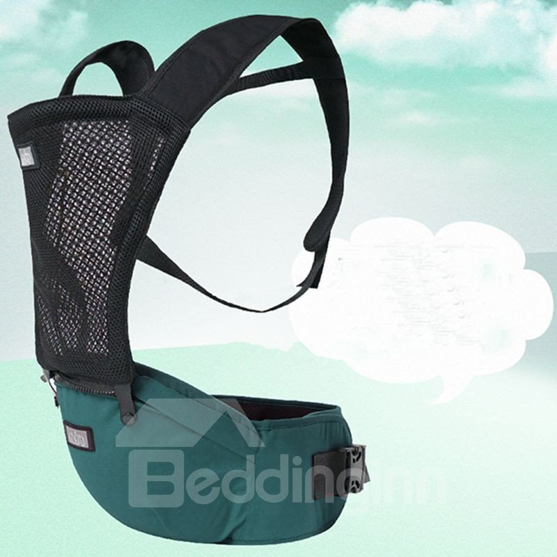 Comfortable Breathing Green Cotton Baby Carrier