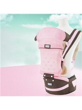 Super Comfortable Breathable Multi Functional Pink Color Baby Carrier