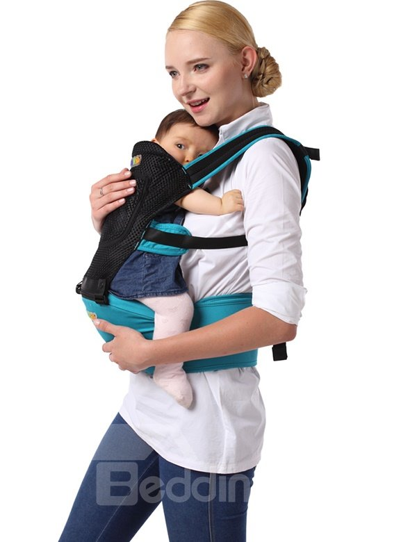 Summer Breathable Mesh Blue Color Baby Carrier