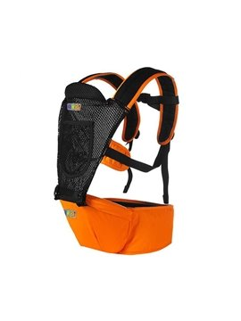 Summer Breathable Mesh Orange Color Baby Carrier