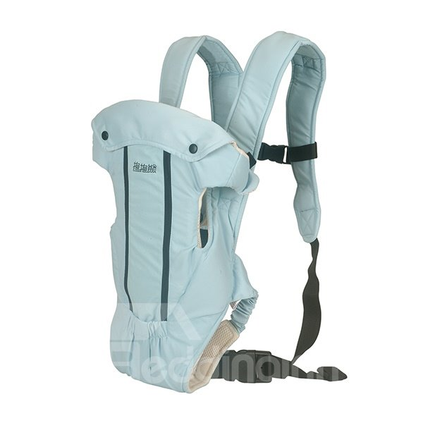 Adjustable Useful Four Positions Light Blue Baby Carrier